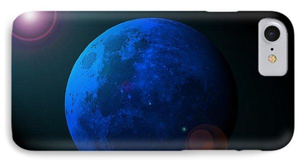 Blue Moon Digital Art Phone Case by Al Powell Photography USA
