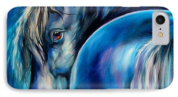 Blue Moon IPhone Case by Marcia Baldwin