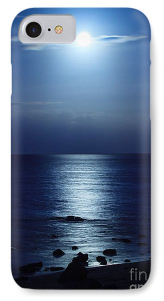 Blue Moon Rising IPhone Case by Peta Thames