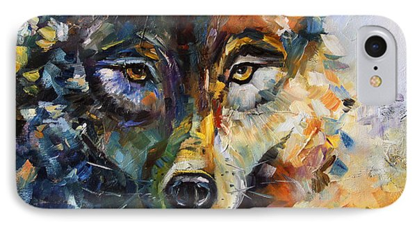 Blue Moon Wolf IPhone Case