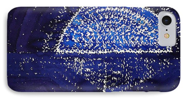 Blue Moonrise Original Painting IPhone Case by Sol Luckman