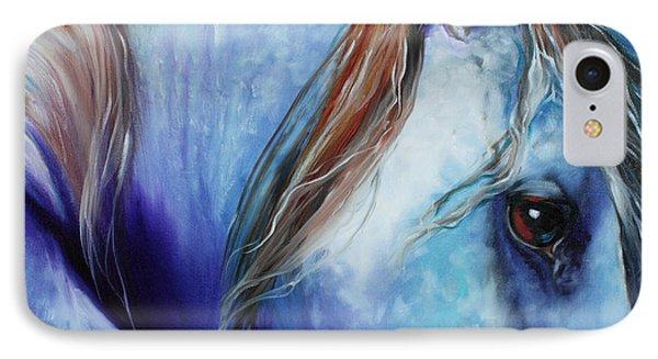 Blue Moonstruck Arabian IPhone Case by Marcia Baldwin