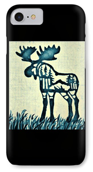 Blue Moose Phone Case by Larry Campbell