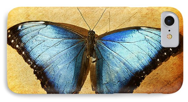 Blue Morpho Butterfly  Phone Case by Saija  Lehtonen
