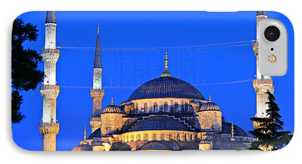 Blue Mosque At Dawn Phone Case by Stephen Stookey