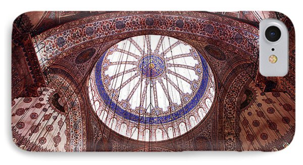Blue Mosque Interior Phone Case by John Rizzuto