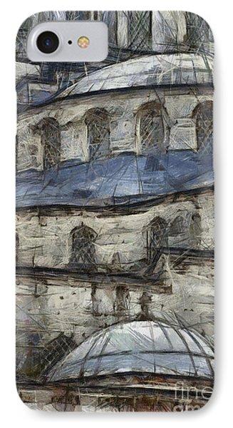 Blue Mosque Sketch IPhone Case