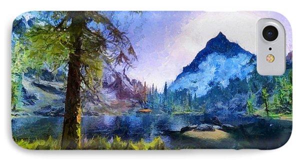 Blue Mountain Of Skyrim IPhone Case