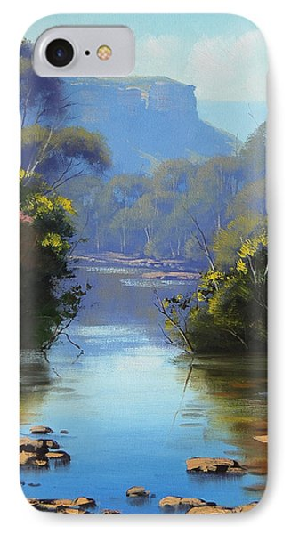 Blue Mountains River IPhone Case by Graham Gercken