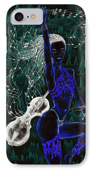 Blue Music. Phone Case by Kenneth Clarke