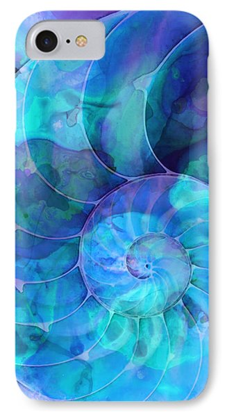 Miami iPhone 7 Case - Blue Nautilus Shell By Sharon Cummings by Sharon Cummings