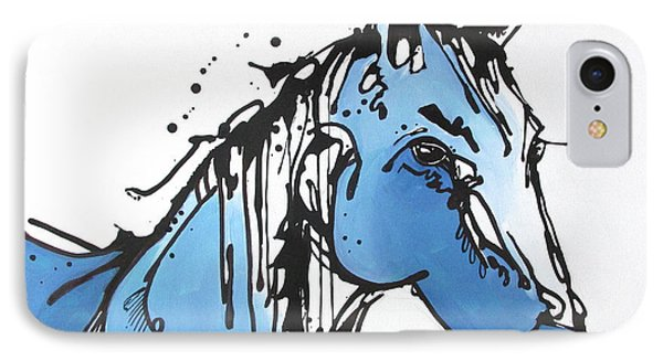 IPhone Case featuring the painting Blue by Nicole Gaitan
