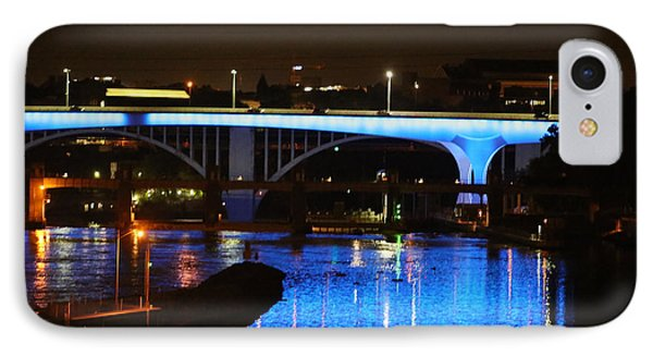 Blue Night In Minneapolis IPhone Case by Kate Purdy