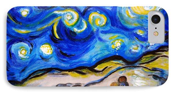 Blue Night IPhone Case by Ramona Matei