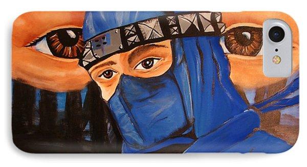 Blue Ninja Phone Case by Lorinda Fore