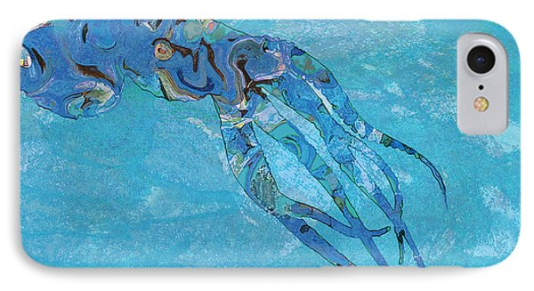Blue Octopus IPhone Case by David Klaboe