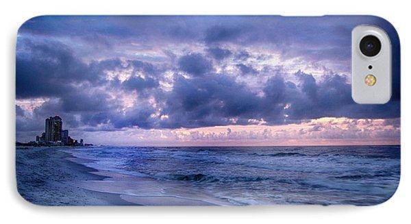 IPhone Case featuring the digital art Blue Orange Beach by Michael Thomas