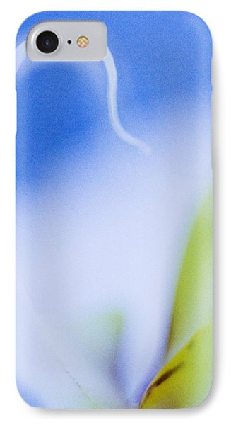 IPhone Case featuring the photograph Blue Orchid Abstract by Bradley R Youngberg