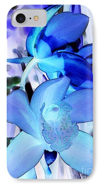 Blue Orchids Phone Case by Kathleen Struckle