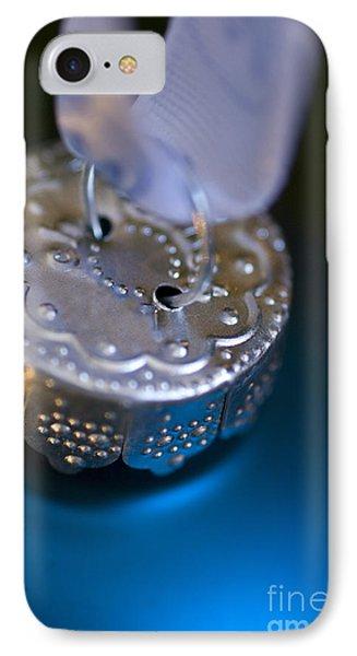 Blue Ornament IPhone Case by Birgit Tyrrell