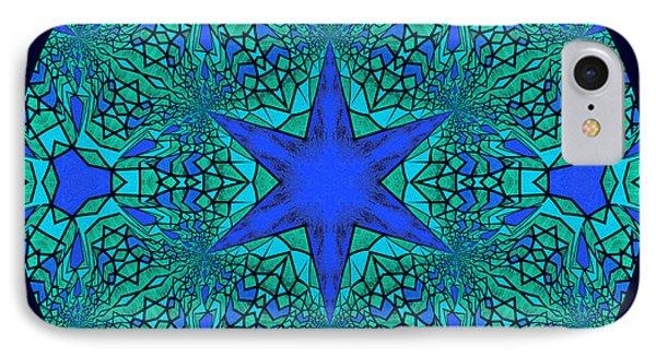 Blue Ornamental Mandala IPhone Case by Georgiana Romanovna