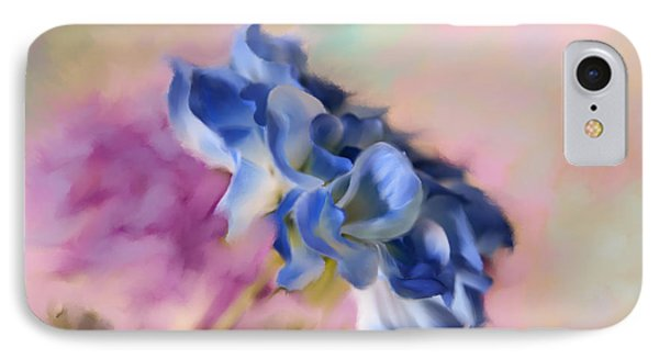 Blue Painted Flower IPhone Case