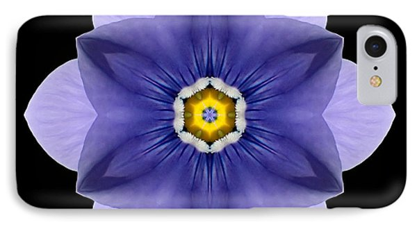IPhone Case featuring the photograph Blue Pansy I Flower Mandala by David J Bookbinder