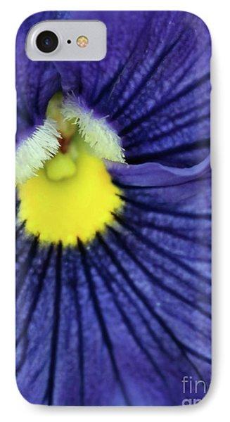 Blue Pansy Phone Case by Sabrina L Ryan