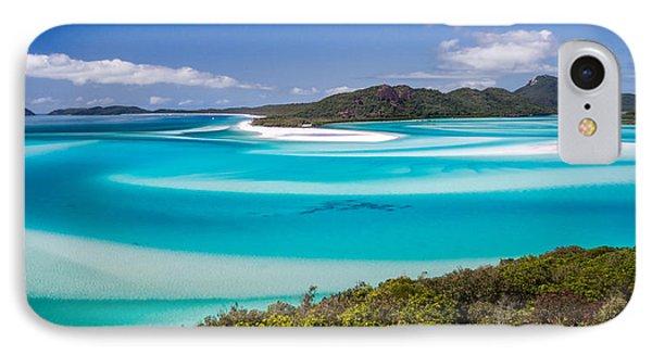 Blue Paradise Whitehaven Beach Whitsunday Island IPhone Case by Mr Bennett Kent