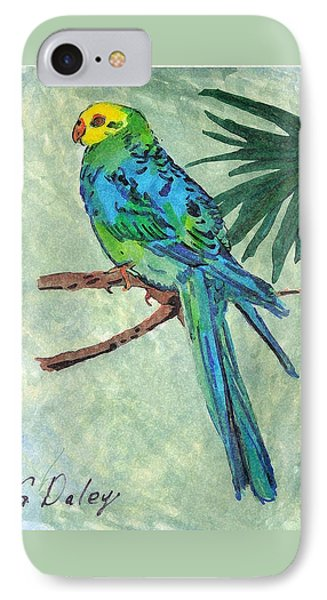 Blue Parakeet Phone Case by Gail Daley