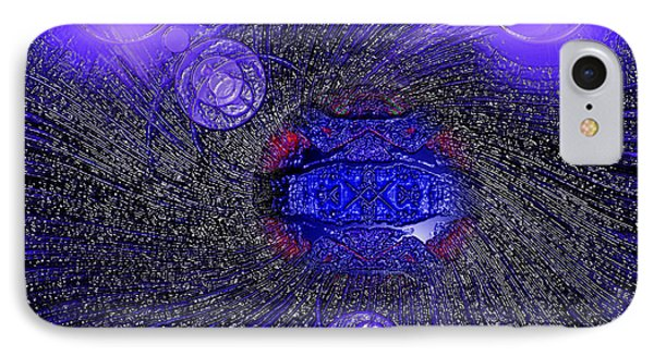 IPhone Case featuring the digital art Blue Pearl Planet Alpha by Hanza Turgul