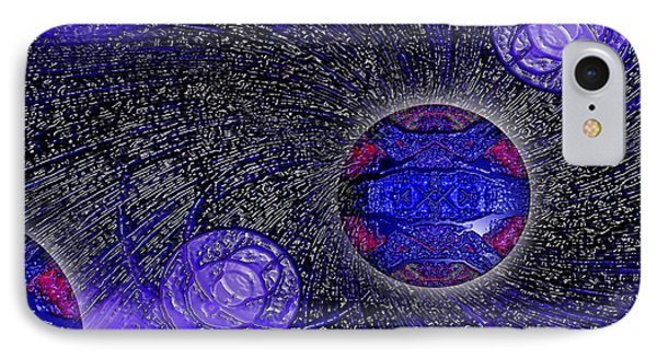 IPhone Case featuring the digital art Blue Pearl Planet Beta by Hanza Turgul