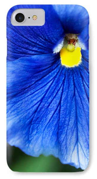 IPhone Case featuring the photograph Blue Petal by Crystal Hoeveler