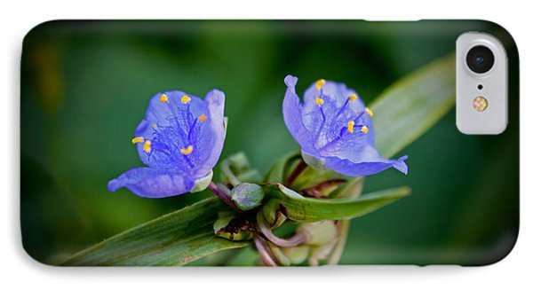 IPhone Case featuring the photograph Blue Petals by Jean Haynes