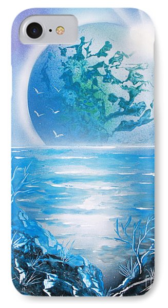IPhone Case featuring the painting Blue Moon by Greg Moores