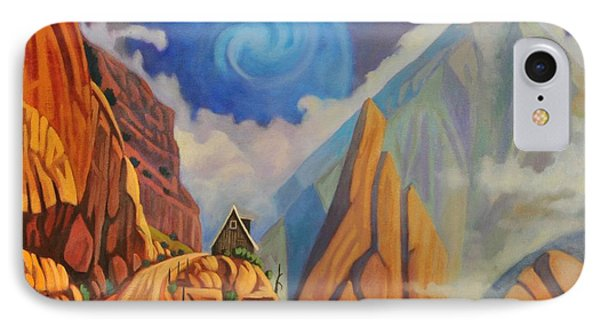 IPhone Case featuring the painting Cliff House by Art James West