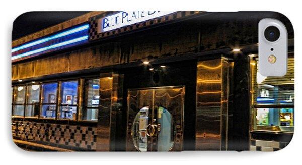 Blue Plate Diner Phone Case by Nancy De Flon