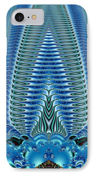 Blue Plume IPhone Case by Jim Pavelle