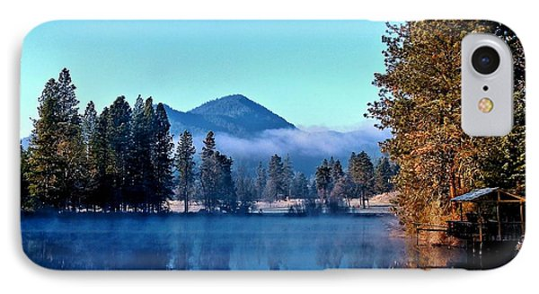IPhone Case featuring the photograph Blue Pond Sunrise by Julia Hassett