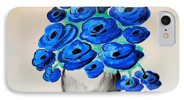 Blue Poppies Phone Case by Ramona Matei