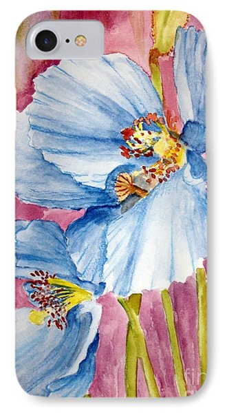 Blue Poppy IPhone Case by Carol Grimes