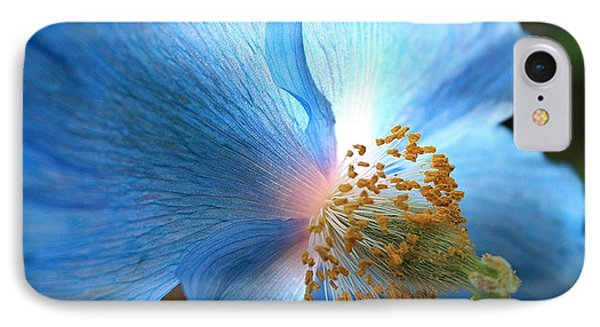 Blue Poppy Phone Case by Carol Groenen