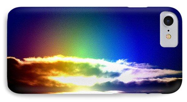 Blue Rainbow Sunset IPhone Case by Tigerlynx
