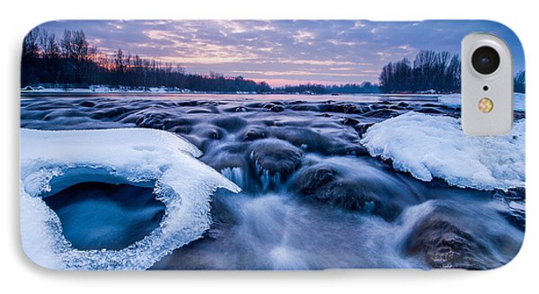 Blue Rapids IPhone Case by Davorin Mance