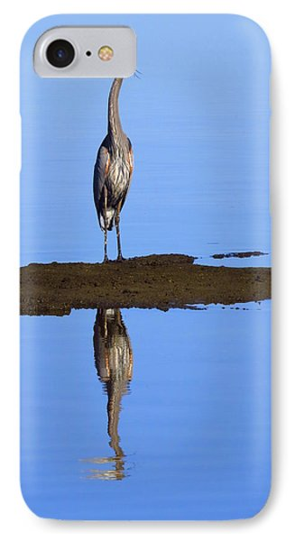 IPhone Case featuring the photograph Blue Reflections by Phyllis Beiser