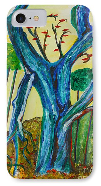 Blue Remembered Tree IPhone Case