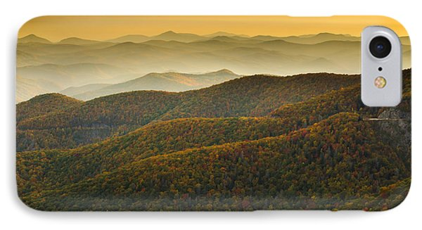 Blue Ridge Autumn IPhone Case by Serge Skiba