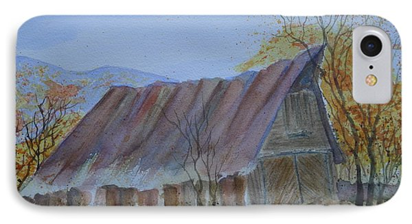 Blue Ridge Barn IPhone Case by Joel Deutsch