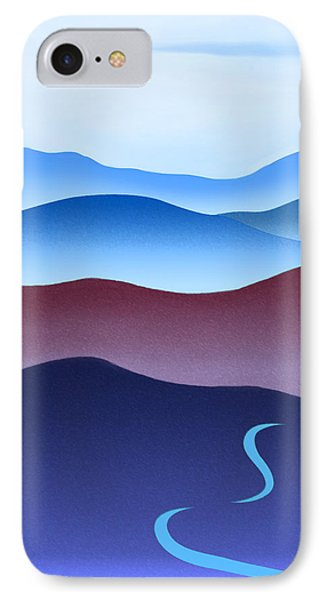 Blue Ridge Blue Road IPhone Case