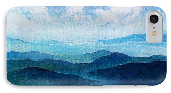 Blue Ridge Blue Skyline Sheep Cloud IPhone Case by Catherine Twomey